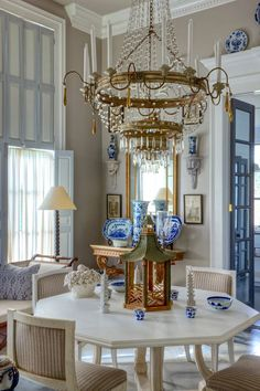 The Exceptional Interior Designer You've Never Heard Of - laurel home | fabulous home of Furlow Gatewood | love the chandelier and styling in this dining room!