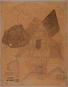 Mapa do Jardim Botânico e da Fazenda Normal do IIFA levantado por Karl Glasl em 1863
