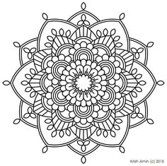 printable intricate mandala coloring pages instant download pdf mandala doodling page adult