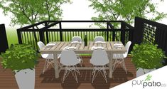 Terrasse privée Laval - Pur Patio Veranda Design, Deck Design, House Design, Gazebo, Backyard Patio, Backyard Ideas, Outdoor Furniture Sets, Outdoor Decor, Back Gardens