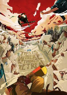 Golden Wolf, illustration, poster, art,