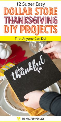 Looking for easy Dollar Tree Thanksgiving DIY projects and ideas? While food is a definite maker-or-breaker for the Thanksgiving vibe, don't underestimate the power of great themed decor. You don't have to spend a ton! You can make some pretty impressive cheap Thanksgiving DIY crafts for kids and adults alike by taking a little trip to the dollar store. These dollar store Thanksgiving ideas from The Krazy Coupon Lady are just what you need! #thanksgivingcrafts #dollartreediy #thanksgivingdiy Thanksgiving Diy, Thanksgiving Decorations, Do It Yourself Organization, Coupon Lady, Homemade Crafts, Household Tips, Dollar Tree, Diy Crafts For Kids, Cleaning Hacks