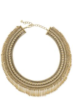 Stella & Dot Tansy Gold Fringe Collar Necklace #statement #necklace #gold