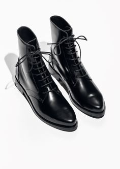 & Other Stories image 2 of Lace-Up Boots in Black
