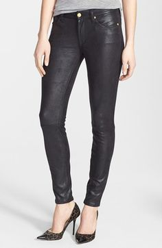$198, 7 For All Mankind The Skinny Faux Leather Skinny Pants Black Size 30 30. Sold by Nordstrom. Click for more info: https://lookastic.com/women/shop_items/60489/redirect
