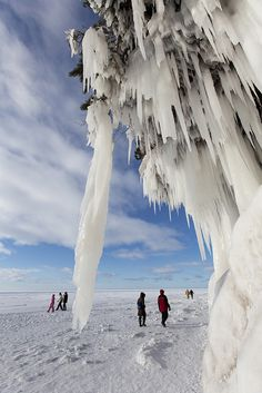 Ice caves, Apostle Islands National Lakeshore Wisconsin