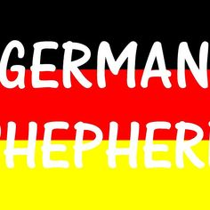 german shepherd name on flag