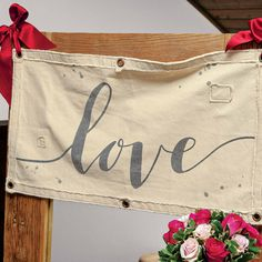 Love Banner Wooden Crates With Lids, Wood Crates, Wall Banner, All Gifts, Inspirational Gifts, Gift Wrapping, Window, Stitch, Love