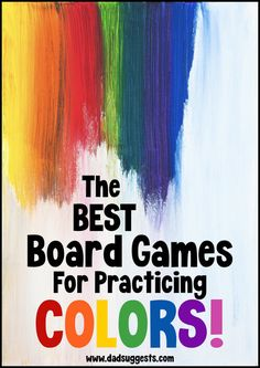 Discover the best board games to help your preschooler practice their colors. Use these family favorites during your next family game night or for gameschooling and learn those colors. Family Fun Games, Family Board Games, Fun Board Games, Kids Party Games, Family Game Night, Preschool Board Games, Educational Board Games, Activities For Kids, Color Activities