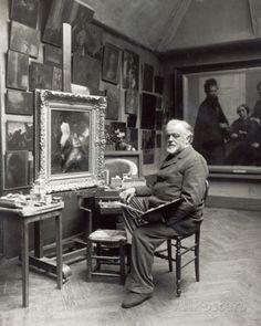 Henri Fantin-Latour in studio (1836-1904)