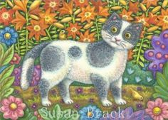 Folk Art Series - FUZZY WUZZY   Blank Note Card