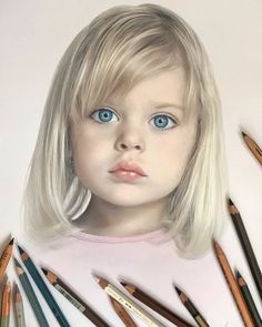 Artist Makes Amazing Hyper-Realistic Drawings Using Only Colored Pencils - Russian Artist Creates Amazing Hyperrealistic Portraits That Seem To Jump Off The Page Pics) - Pencil Portrait Drawing, Colored Pencil Portrait, Colored Pencil Artwork, Realistic Pencil Drawings, Portrait Sketches, Pencil Art Drawings, Portrait Art, Horse Drawings, Drawings With Colored Pencils