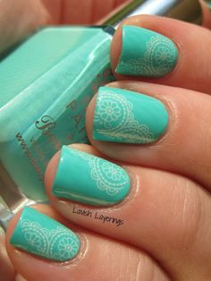 Lavish Layerings - Barry M Greenberry with Born Pretty Store Water Decals