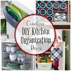 Step by step on how to completely organize your kitchen; get rid of the clutter, group like items together, and create an organized and functional kitchen. Diy Kitchen Storage, Diy Kitchen Decor, Home Decor, Kitchen Ideas, Kitchen Hacks, Budget Organization, Kitchen Organization, Luxury Kitchens, Cool Kitchens