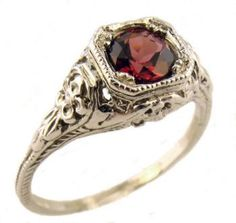 Antique Style Sterling Silver Filigree 5.0 to 5.5mm Round Shaped Ring Setting