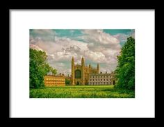 "Blue Skies Fall On Kings College,cambridge framed print by Andrew Hunter.   Bring your print to life with hundreds of different frame and mat combinations. Our framed prints are assembled, packaged, and shipped by our expert framing staff and delivered ""ready to hang"" with pre-attached hanging wire, mounting hooks, and nails."