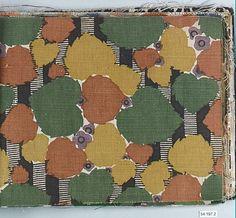 Textile by an unknown designer for Wiener Werkstätte, early 20th century. Cotton, silk, wool and linen | Metropolitan Museum