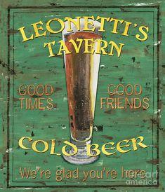 Leonettis Tavern Painting - Leonettis Tavern Fine Art Print