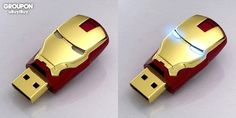 Iron Man USB stick. Pretty sweet. I also want the rest of the Avengers USB sticks. They all look pretty slick. bossome