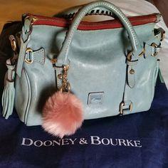 Sharing Dusty blue, Zebra, Seafoam and Ocean Dooney & Bourke Bags Satchels