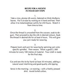 Recipe for a Necktie Mulberry Leaf, Factories, Hare, How To Apply, Recipes, Rezepte, Food Recipes, Recipies, Bunnies