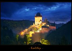 one of most known castles in Czech Republic (very near to capitol city Prague) - Karlstejn - Europe Photos, Old City, Czech Republic, Prague, Worlds Largest, Monument Valley, Castles, Deviantart, House Styles