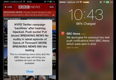 OUCH! BBC News #iOS App sent Bogus Breaking News Push Messages by Mistake to all Readers.  http://thehackernews.com/2014/06/bbc-news-ios-app-not-hacked-breaking.html