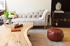 live edge furniture combined with sleek materials = woah.