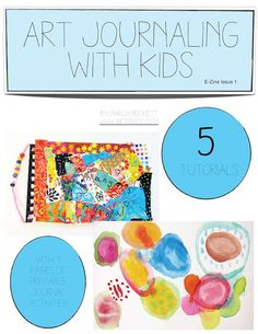 Art+Journaling+with+Kids+EZine+by+marciabeckett+on+Etsy,+$6.50