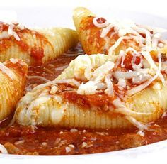 Cheese-Stuffed Shells. What makes this dish so great is the filling of the shells which combines ricotta and herbs! Place the composition in the shells and bake them for approximately 35 minutes at 350 C. Enjoy!
