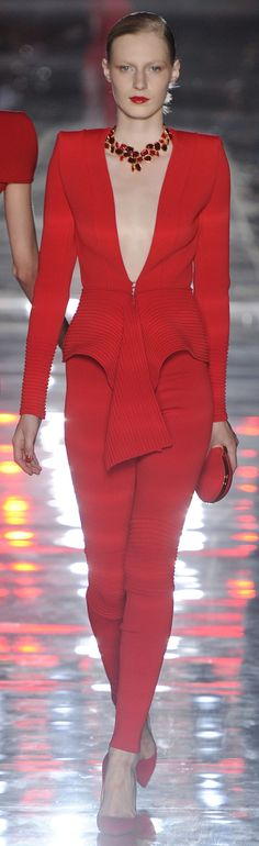 Alexandre Vauthier - red couture - 2011