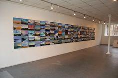 Olivier Masmonteil, 2012,  Solo exhibition at Galerie du CAUE, Limoges, France, Installation View