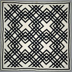 """Fantastic """"Carpenter's Square"""" vintage quilt -- this is the pattern I've been hunting for to put on our bed!"""