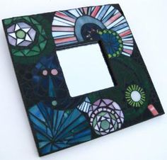 Funky Whimsical Stained Glass Mosaic Mirror | MosaicSmith - Mosaics on ArtFire