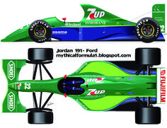 [IMG] The Jordan 191 was the first Formula One car built by Jordan Grand Prix and participated in the 1991 Formula One season. Drag Racing, F1 Racing, Grand Prix, Sport Cars, Race Cars, Car Competitions, Formula 1 Car, Vintage Race Car, Car Drawings