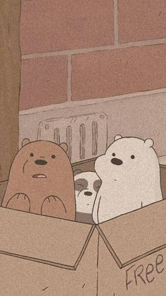We bare bears Soft Wallpaper, Bear Wallpaper, Aesthetic Pastel Wallpaper, Kawaii Wallpaper, Wallpaper Quotes, We Bare Bears Wallpapers, Panda Wallpapers, Cute Cartoon Wallpapers, Disney Phone Wallpaper