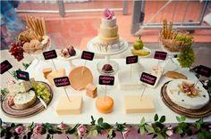 mesa de quesos para una boda