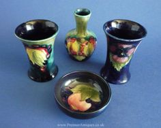A selection of Moorcroft miniatures c1928-39