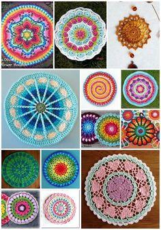 Crochet Mandala Pattern, Crochet Circles, Crochet Squares, Crochet Patterns, Pattern Design, Free Pattern, Wallpaper Free, Pink Phone Cases, Hippie Art