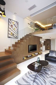 38 Ideas for house ideas exterior indian – House Design Home Stairs Design, Duplex House Design, Modern Home Interior Design, Loft House, Interior Stairs, Residential Interior Design, Small House Design, Apartment Design, House Rooms