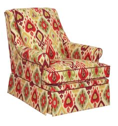 Beautful, bright pattern on this Norwalk Furniture chair! TheHome.com #hpmkt