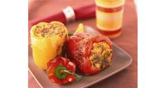 Stuffed Peppers by myyogakitchen: Yoga food party favorite. #Peppers #Healthy