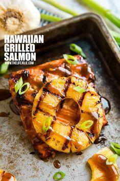 Pink Salmon Recipes, Delicious Salmon Recipes, Grilled Salmon Recipes, Healthy Recipes, Grilled Salmon Marinade, Grilled Fish, Orange Recipes, Delicious Food, Hawaiin Food