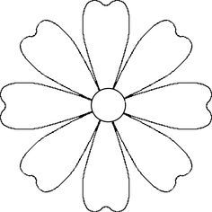 Vector image of a white daisy petals without stem and leaves. Color graphics of white margerita.Flower Daisy 8 petal template by A flower that could be a daisy or other simple 8 petal flower. It is made from a 8 petal symmetrical template. Wooden Flowers, Paper Flowers Diy, Flower Crafts, Fabric Flowers, Paper Butterflies, Daisy Petals, Flower Petals, Lotus Flower, Felt Flower Template