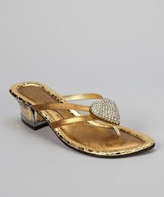 Take a look at this Antique Gold Desire Sandal by Dezario on #zulily today!