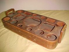 Vintage Railroad Service Tray  40s Bentwood  Charming by MAYSVTG, $119.95