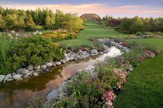 The Creek Garden at Thanksgiving Point Gardens.