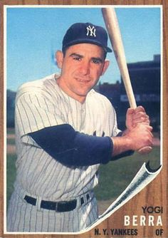 1962 Topps Yogi Berra #360 Baseball Card.  Yogi passed away at age 90 on September 15, 2015.