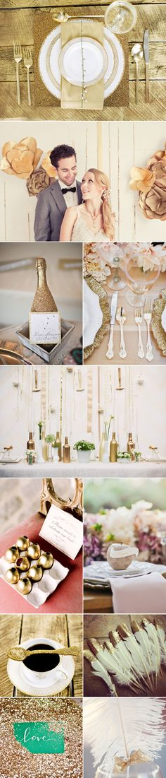 Praise Wedding » Wedding Inspiration and Planning » Timeless Gold Weddings