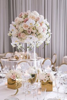 Tablescape | A Sweet Summer Wedding Infused With Elegance | WedLuxe